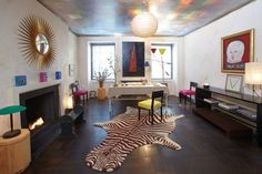 Albert Hadley living room by James Andrews Albert Hadley, Black Floor, Hearth, Animal Print Rug, Nyc, Kids Rugs, House Design, Flooring, Interior Design