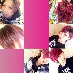 WEBSTA @ m_app_y - ピンクに染め直した。ピンクの色落ちた色好きだけど地毛だいぶ伸びちゃってるから見た目悪くなる( 笑 )これ色落ちたら黒にしまーす⚫️ #マニックパニック#manicpanic#クレオローズ#cleorose #セルフカラー#selfcolor#進化