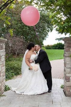 Pink baloon Our Wedding, Wedding Dresses, Pink, Fashion, Bridal Dresses, Moda, Bridal Gowns, Rose, Wedding Gowns