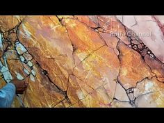 3 Piece Canvas Art, Sienna, Yellow Marble, Marble Painting, Marble Effect, Drawings, Make Art, Pools, Rocks