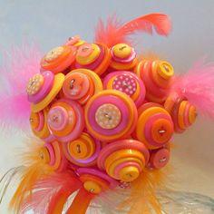 button bouquet. LOVE the colors!