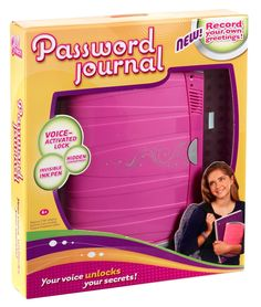 Gifts for Girls Ages 7 and Up ~ My oldest daughter would love a voice-activated password journal.  Anything to keep those brothers from snooping!  This Password Journal is a big hit this year!  It has a second hidden compartment and an included invisible ink pen for those extra special secrets.