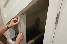 Under Stairs Hidden Storage Drawers : 15 Steps (with Pictures) - Instructables Stairs Storage Drawers, Staircase Storage, Set Of Drawers, Stair Storage, Hidden Storage, Diy Understairs Storage, Hand Circular Saw, Hidden Door Bookcase, Hidden Doors