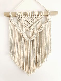 Most current Absolutely Free Macrame diy wall hanging Strategies Macrame Wall Hanging Esther Scalloped layered modern Makramee Etsy Macrame, Macrame Art, Macrame Projects, Macrame Knots, Crochet Projects, Macrame Mirror, Macrame Curtain, Macrame Wall Hanging Patterns, Large Macrame Wall Hanging