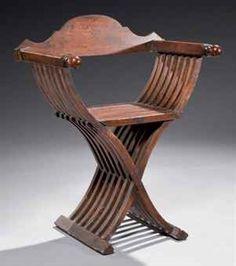 Chaise à tenailles de style Haute-Epoque