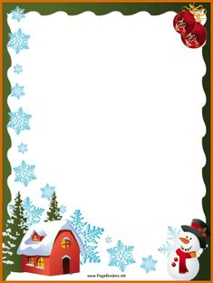 and snowman christmas border this free festive printable christmas ... christmas borders for word.House_Snowflakes_and_Snowman_Christmas_Border.png