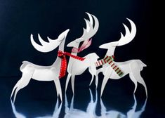 Freebie | Christmas Paper Reindeer Ornaments These are so cute!!!