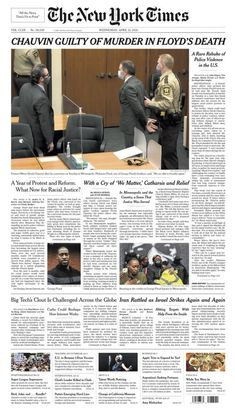 'Black lives do, in fact, matter': US newspapers react to George Floyd verdict Newspaper Front Pages, Newspaper Cover, Newspaper Headlines, Nbc Nightly News, Fight For Justice, New Twitter, Nbc News, New Instagram, Minneapolis