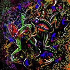 Very cool! http://images.fineartamerica.com/images-medium-large/psychedelic-frogs-steve-farr.jpg
