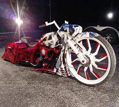 Harley Bagger, Bagger Motorcycle, Harley Bikes, Motorcycle Style, Harley Davidson Motorcycles, Motorcycle Design, Sidecar, Monster Bike, Custom Baggers