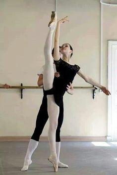 Pas de Deux class...students at Vaganova Ballet Academy.