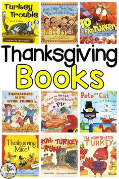 These 10 Thanksgiving Picture Books are all about being thankful, turkeys, family dinner, and the first Thanksgiving.  Your preschoolers, kindergartners, and first graders will not only enjoy learning about the holiday but important concepts like counting backwards and rhyming words too. Click on the picture to see our favorite Thanksgiving read aloud books! #thanksgivingbooks #thanksgivingpicturebooks #thanksgivingreadalouds #booksforkids #thanksgivingbooksforkids #turkeybooks