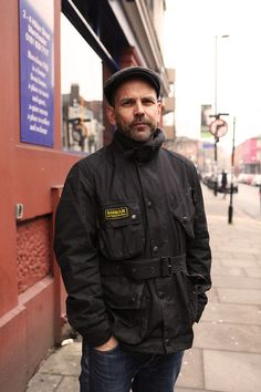 Looking smart in his Barbour International Smart Jackets, Wax Jackets, Barbour International Jacket, Waxed Cotton Jacket, Barbour Jacket, Belstaff, Men's Fashion, Street Fashion, Style Men