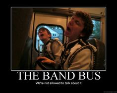 What goes on the band bus stays on the band bus. What goes on the band bus stays on the band bus. Marching Band Problems, Marching Band Memes, Flute Problems, Marching Band Couples, Funny Band Memes, Band Jokes, Band Nerd, Music Jokes, Music Humor