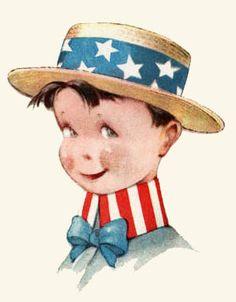 """I'm a Yankee Doodle Dandy,  A Yankee Doodle, do or die.  A real live nephew of my Uncle Sam,  Born on the Fourth of July ~     I've got a Yankee Doodle sweetheart,  She's my Yankee Doodle joy.  Yankee Doodle came to London  Just to ride the ponies.  I am the Yankee Doodle Boy ~  I'm a """"Yankee Doodle Dandy,""""  by George M. Cohan"""