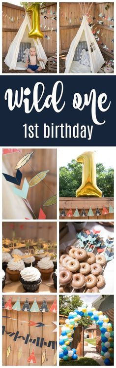 Wild One First Birthday Party Ideas on Pretty My Party
