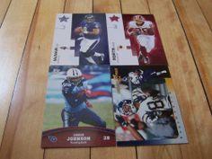 CLINTON PORTIS STEVE MCNAIR TONY MARTIN CHRIS JOHNSON NFL Football Card Lot (4)