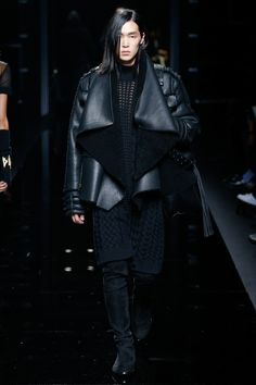 This collection has some good layering looks  Balmain Fall 2017 Menswear Collection Photos - Vogue