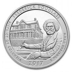 2017 America The Beautiful 5 oz. Silver Quarters - Frederick Douglass National Site The Frederick Douglass National Historic Site in Washington D.C., also known as Cedar Hill is the last home of the famous abolitionist, and African American leader of the 19th century.