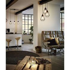 Eglo Tarbes Hanglamp Zwart 3 lamp - 79 cm