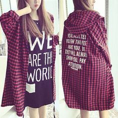 Buy 'Bloombloom – Hooded Plaid Oversized Shirt' with Free International Shipping at YesStyle.com. Browse and shop for thousands of Asian fashion items from China and more!