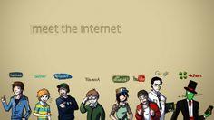 Meet the Internet wallpaper digital art simple background 2048x1152 Wallpapers, Uhd Wallpaper, Gaming Wallpapers, Iphone Wallpaper, Desktop Backgrounds, Hd Desktop, Shiva Wallpaper, Youtube Logo