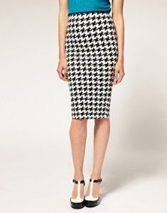 Gorgeous much?!? ASOS Dogtooth Print Pencil Skirt