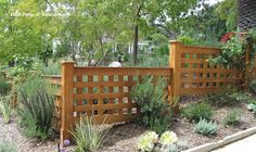 Lattice for Privacy Wall | The original fence (see below) which I built in 1994 fence was damaged