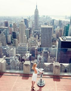 I ❤️ New York. Top of the Rock facing the Empire State Building. Best view of the city.