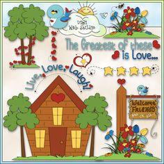 Live, Love, Laugh 1 - NE Trina Clark Clip Art : Digi Web Studio, Clip Art, Printable Crafts & Digital Scrapbooking!