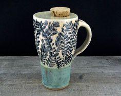 Handmade Travel Mug - One Piece Lidded Travel Coffee Mug - Commuter Mug