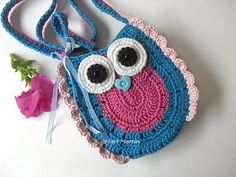 Owl Purse Pattern Crochet Bag Girls Purse Handbag by MariMartin, $5.10