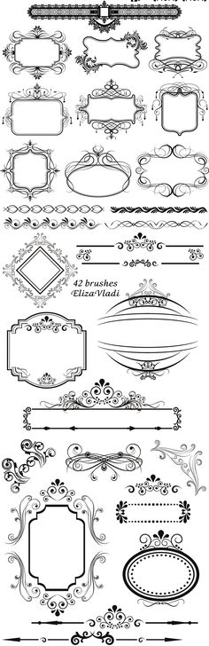 FREE Photoshop brushes: Vintage frames