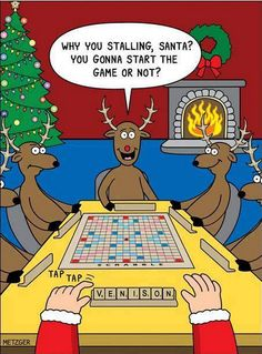 Cartoonist Scott Metzger understands the stress of the holidays which is why he infuses a heavy dose of holiday humor into the season by drawing some of the funniest cartoons we've ever seen. Funny Jokes, Funny Stuff, Funny Things, Dad Jokes, Grammar Jokes, Lmfao Funny, Funny Rude, Funny Boy, Sarcasm