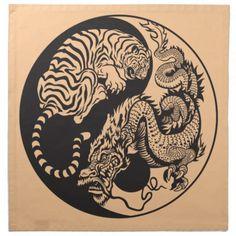 Tiger Dragon Yin Yang Meaning | dragon_and_tiger_yin_yang_symbol_printed_napkins ...