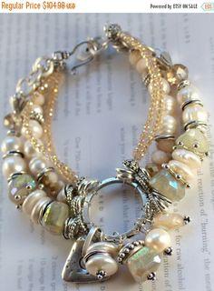 ON SALE bracelet citrine bracelet pearl bracelet by soulfuledges