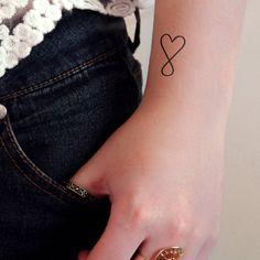 This pretty infinite love symbol makes a really pretty temporary tattoo! ................................................................................................................ WHAT YOU GET: