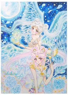 Queen Serenity and Sailor Cosmos