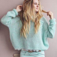 New Knitting Patterns Sweaters Oversized Inspiration Ideas Knitwear Fashion, Knit Fashion, Crochet Jacket, Knit Crochet, Knitting Socks, Hand Knitting, Pull Mohair, Stitch Fit, Mode Boho