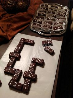 Domino Game Brownies by The Cake Chic! This is just a pic but what a cute idea for a fun themed dessert!
