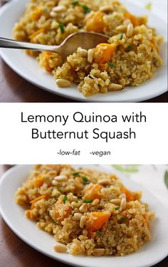 Lemony Quinoa with Butternut Squash, a delicious, low-fat, vegan side ...