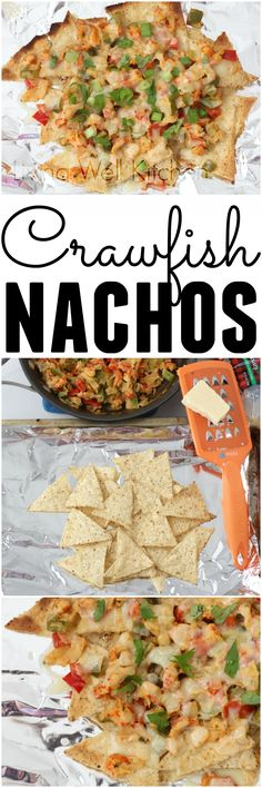 Spicy, cheesy, veggie filled Crawfish Nachos from @memeinge make for an easy and delicious meal you'll look forward to eating