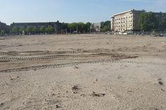 Laatste open blik Stadionplein.  Amsterdam  22- 08- 2013. Foto Irka Potsdammer