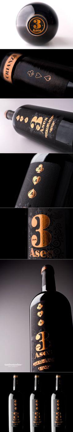 3 ASES CRIANZA 2010 3 ASES VINO - TANINOTANINO VINOS INTELIGENTES Photo by #winebrandingdesign