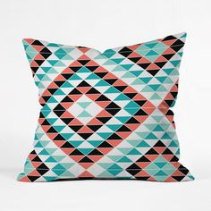 Pastel Triangles Pillow Cover | dotandbo.com