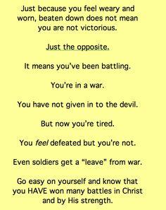 God has won through you.