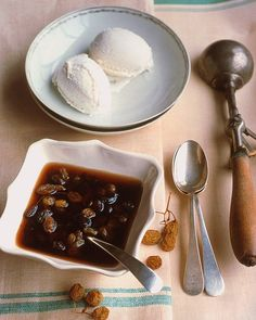 Ice Cream with Rum-Raisin Sauce Recipe