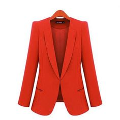 New Spring 2017 Women Blazers plus size fashion female slim blazer Ol Candy Color suit jacket ladies office coat Maxi Size S-4xl