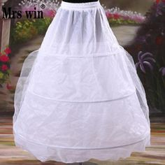 Free Shipping New Arrival 2016 Large 3 Rings White Petticoat With Gauze for Wedding Dress with Tail Can Be Adjustable