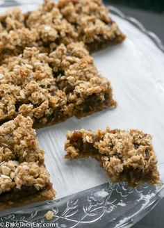 Easy Sticky date oat slices | BakeThenEat.com